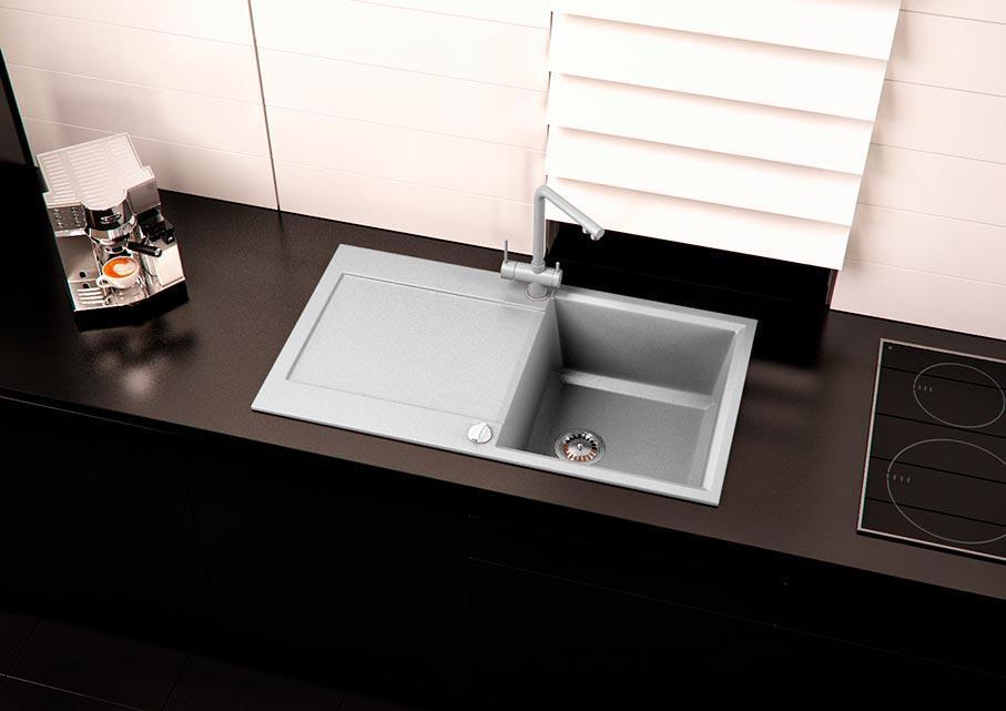 Кухонна мийка VALENTINA Gr Metra сірий