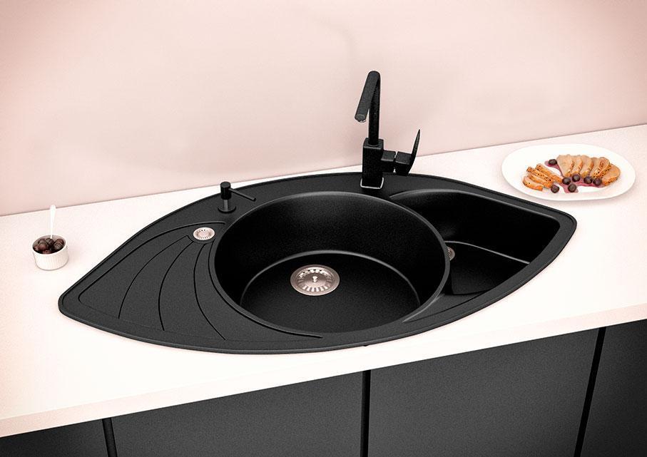 Кухонна мийка VALENTINA Gr Lira чорний