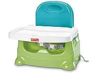 Детский стульчик для кормления бустер Fisher-Price Healthy Care Booster Seat Green/Blue, фото 1