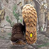 Кроссовки тактические MUSTANG нубук cordura шоколад, фото 3