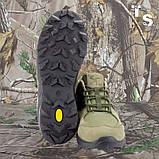 Кроссовки тактические MUSTANG нубук cordura олива, фото 5