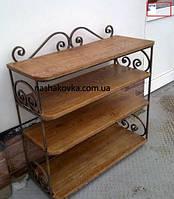 Деревянная этажерка на 4 полки