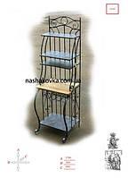 Кованая этажерка с деревянными полками