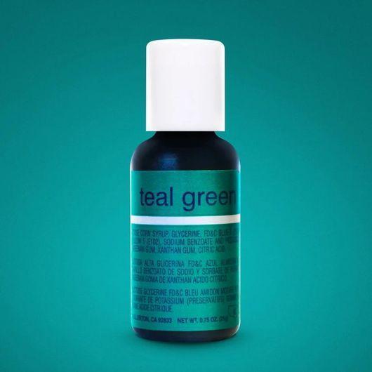 Гелевый краситель Chefmaster Liqua-Gel Teal Green (Морская волна)