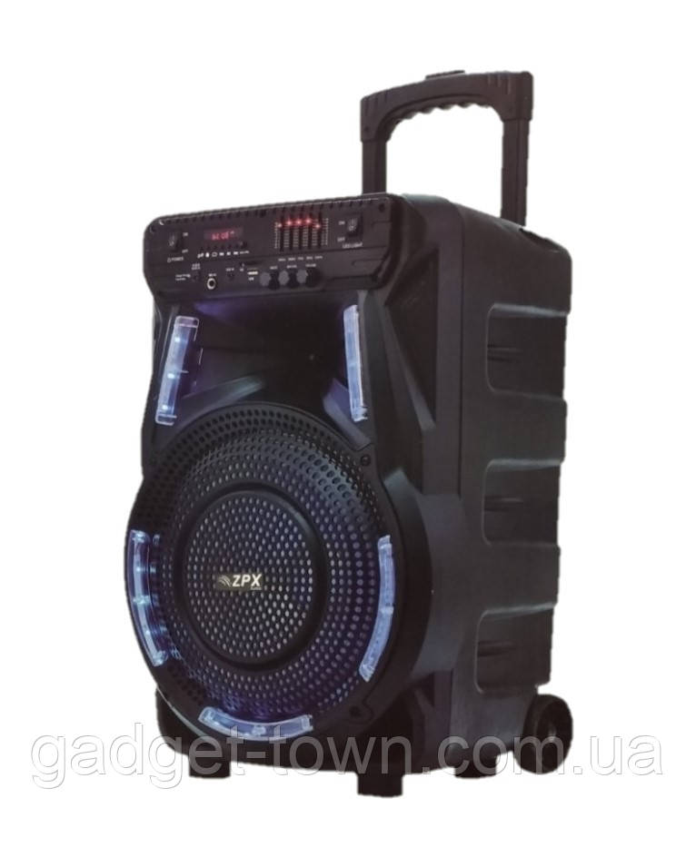 Колонка на акумуляторі з мікрофоном ZPX ZX-7774/100W (USB/Bluetooth/FM)
