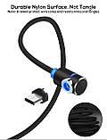 Магнитный кабель для зарядки Topk microUSB 1m 2.4A 360° Черный (TK30U-VER2-BL), фото 3