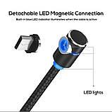 Магнитный кабель для зарядки Topk microUSB 1m 2.4A 360° Черный (TK30U-VER2-BL), фото 4