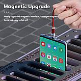 Магнитный кабель для зарядки Topk microUSB 1m 2.4A 360° Красный (TK28U-VER2-RD), фото 2
