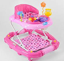 Детские ходунки розовые музыкальные JOY CP-10477