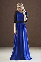 Платье в пол с поясом, фото 1