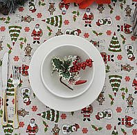"Новогодняя скатерть ""Санта"", фото 1"