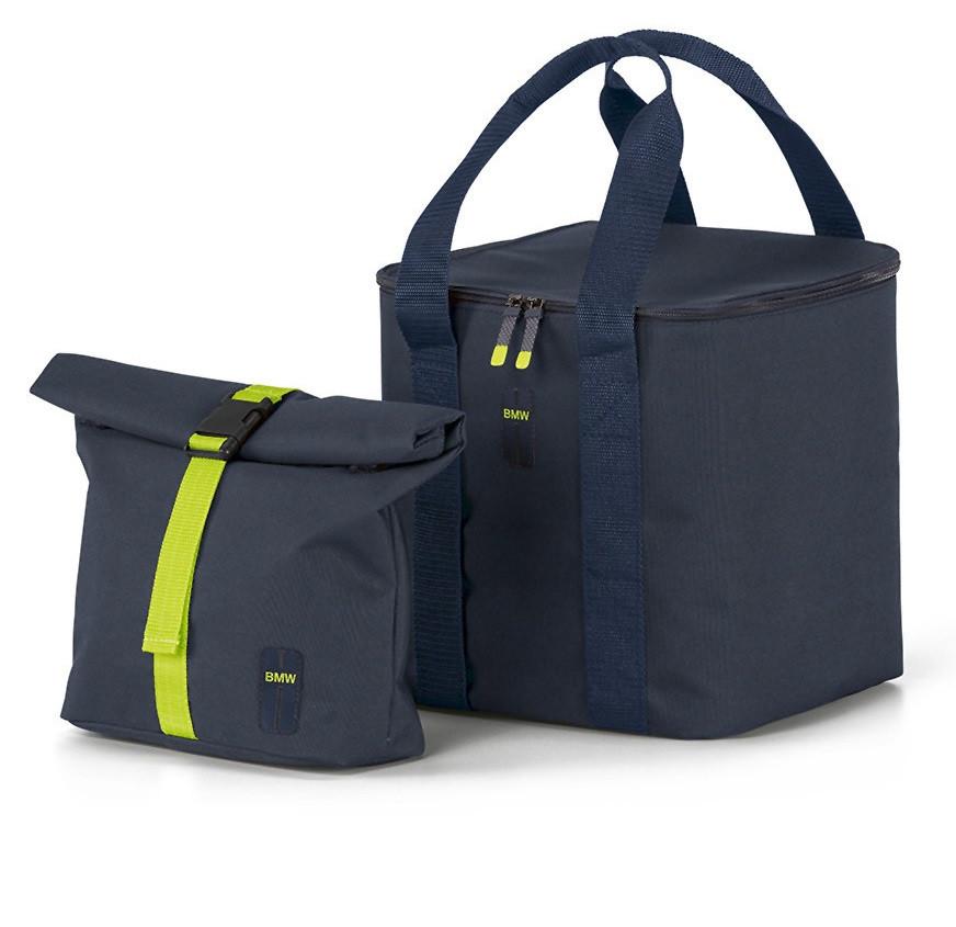 Оригінальний набір термосумок BMW Active Cool Bag Set, Blue Nights / Wild Lime, артикул 80222461023