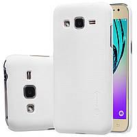 Чехол Nillkin для Samsung Galaxy J2 Duos J200 белый (+плёнка), фото 1