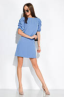 Платье с драпировкой на рукаве 120PDS8607 (Голубой), фото 1