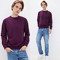 Мужской однотонный Свитшот без начеса, легкий свитер, кофта весна-осень