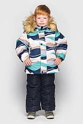 Детский комплект зимний  Джони  Бирюза на рост 104 по 122