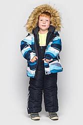 Детский комплект зимний Джони Голубой, на рост от 104 по 122