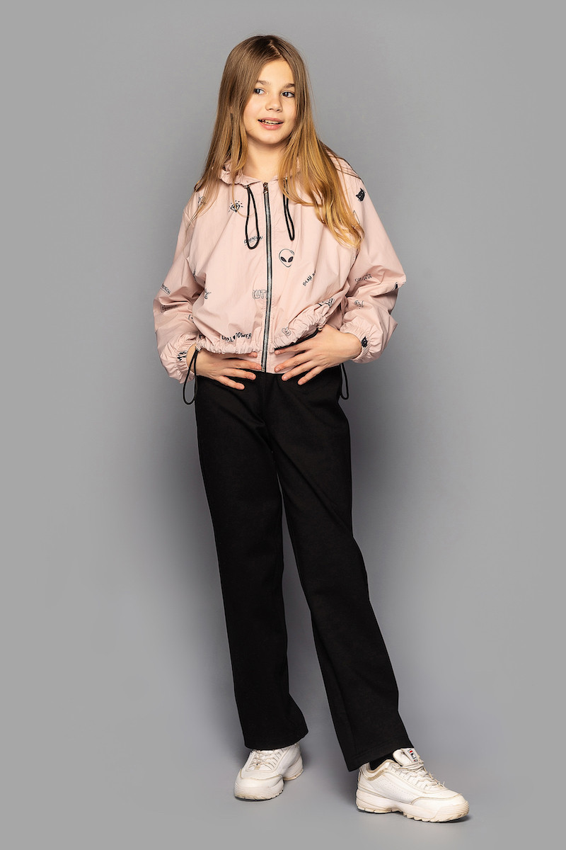 Детская ветровка для девочки  Джессика  Св Пудра, на рост 140-158