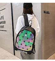 Рефлективный черный спортивный городской рюкзак Adidas Адидас/спортивний рюкзак Адідас Reflective Big Triangle