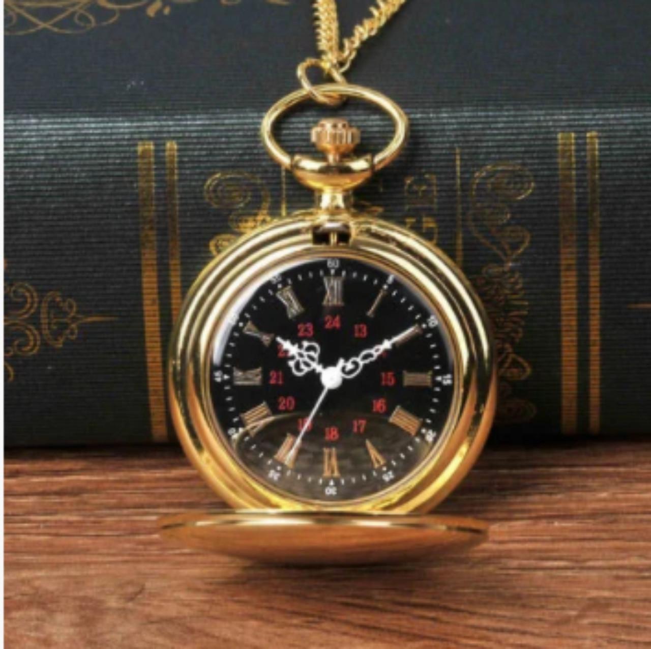 Винтажные часы карманные с цепочкой