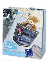 Подарочные пакеты детские Мишки 26х21х10 см