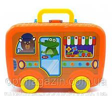 Конструктор мозаика с шуруповертом в чемодане на колесиках Portable Platter 258 деталей, фото 2