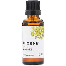 Вітамін К2, Thorne Research, 1 Рідка Унція (30 мл)
