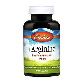 Л-Аргінін Carlson Labs L-Arginine Free-Form Amino Acid 675 mg (90 капсул) карлсон лабс