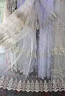 Тюль фатин с вышивкой, фото 1