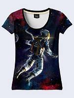 Футболка 3D жіноча Космонавт