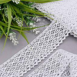 Бавовняне мереживо біле шириною 4 см (2040)