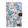 Кожаный чехол-книжка для планшета Samsung Galaxy Tab E 9.6 SM-T560/561 TTX Flowers Wallet с функцией подставки
