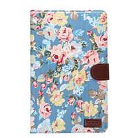 Кожаный чехол-книжка для планшета Samsung Galaxy Tab E 9.6 SM-T560/561 TTX Flowers Wallet с функцией подставки, фото 1