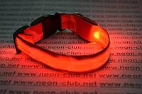 Ошейник светящийся для собак Камуфляж - самый яркий Красный