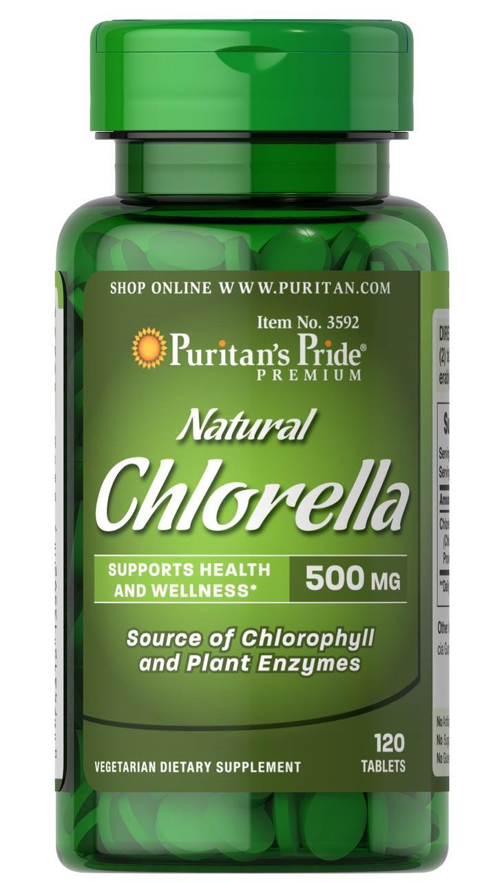 Хлорела Puritan's Pride Natural Chlorella 500 mg (120 таб) пуританс прайд