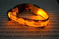 Ошейник светящийся для собак Камуфляж - самый яркий Желтый