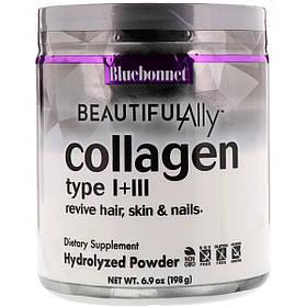 Колаген 1 і 3 типу, Beautiful Ally, Bluebonnet Nutrition, Collagen Type I + III, порошок 198 г