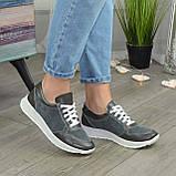 Стильные кроссовки женские на шнуровке, цвет серый, фото 2
