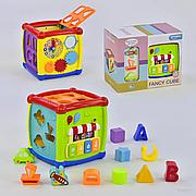 Куб Логический детский 0520 звуковые и световые эффекты, мелодии, в коробке