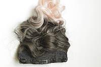Штучні волосся омбре на заколках, фото 1