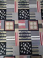 Ткань Бязь Gold Америка 220 см | Отрез 1м
