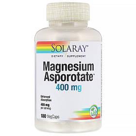 Аспартат Магнію, Magnesium Asporotate, Solaray, 400 мг, 180 Капсул
