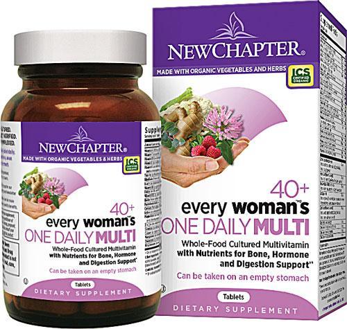Щоденні Мультивітаміни для Жінок 40+, Every woman's, New Chapter, 24 таблетки