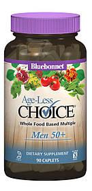 Чоловічі Мультивітаміни 50+, Ageless Choice, Bluebonnet Nutrition, 90 капсул