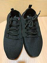 УЦЕНКА ! Кроссовки мужские черные летние сетка 40 р. - 26 см, фото 2