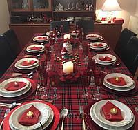 """Новогодняя скатерть """"Шотландская клетка"""", фото 1"""
