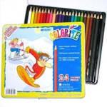 Карандаши цветные MARСO 24 цвета в металлической упаковке 1100-24TN