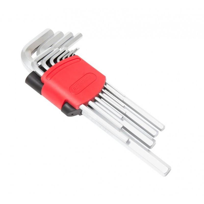 Набор ключей Г-образных 6-гранных длинных, 11пр. в пластиковом держателе