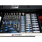 Інструментальна візок 7-ми полична з бічною секцією і набором інструментів 250пр, фото 6