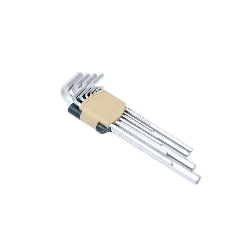 Набор ключей Г-образных 6-гранных экстра длинных 11пр. в пластиковом держателе